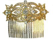 Clear Rhinestone Crystal Huge Hair Comb For Bridal Wedding D77