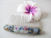 Hair Comb Vintage Crystal & Stone jewellery Attachment Tiara Silver Comb.
