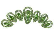 Hair Comb Green Rhinestone Crystal Bridesmaid Wedding Party