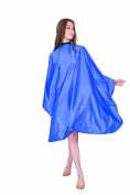XMW Multipurpose Classic Polyester Solid Hair Cutting Salon Cape with Adjustable Neck Closure Blue