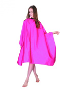 XMW Multipurpose Classic Polyester Solid Hair Cutting Salon Cape with Adjustable Neck Closure Pink