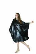 XMW Water Repellent Hair Salon Polyester Styling Cape Black