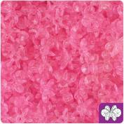 BEADTIN Pink Transparent 12mm SunBurst Craft Beads