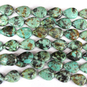 Natural African Turquoise Teardrop 13*18mm Findings Jewerlry Making Gemstone Beads