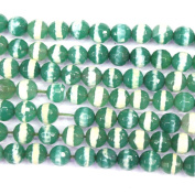 Faceted Green Line Agate Rround 8mm Findings Jewerlry Making Gemstone Loose Beads