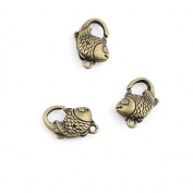 Priced Per 120 Jewellery Clasps Findings Supplies Craft Ancient Repair Lots DIY Antique Pendant Vintage Z71123 Fish Clasp