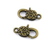 Qty:5 Jewellery Clasps Findings Supplies Wholesale Ancient Fashion Bulk Bronze Retro Supply Z71132 Lucky Lobster Clasp