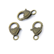 70 pieces Anti-Brass Fashion Jewellery Making Charms 1126 Heart Lobster Clasp Wholesale Supplies Pendant Craft DIY Vintage Alloys Necklace Bulk Supply Findings Loose
