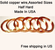 Assorted Sizes Half Hard Copper Wire 18,20,22,24,26,28 Ga / 3m Each- Craft - Hobby - Jewellery Making - Wire Wrapping