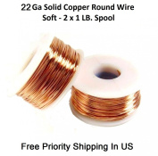 22 Ga Copper Wire 2 X 0.5kg. Each Spool 150m