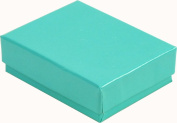 100 Robin's Egg Blue Cotton Charm Jewellery Box Gift Display Case 6.7cm x 3.8cm x 2.5cm