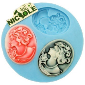 World Of Moulds Cameo Fondant Icing 3 Silicone Mould