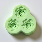 World Of Moulds Rose Fondant Icing 3 Cavity Silicone Mould