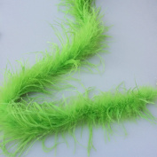 180cm Length 1ply Lime Green Ostrich Feather Boa for Wedding/party,Feather scraf