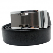 Boshiho Men's Genuine Leather Ratchet Belt Automatic Buckle - Custom Fit