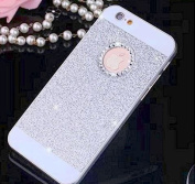 Aurora® iPhone 5 Case , Luxury Hybrid PC Hard Shiny Bling Glitter Sparkle With Crystal Rhinestone Cover Case For iPhone 5 iPhone 5S-Silver