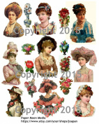 Victorian Ladies Collage Sheet 103