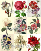 Victorian Flowers Collage Sheet 101