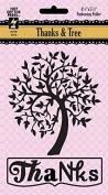 HOTP Paper Artist Thanks & Tree Embossing Folder HOTP6018