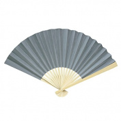 Koyal Wholesale Paper Fans (Pack of 10), Grey