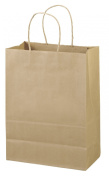 "25cm x 13cm x 13"" - 100 Pcs - Brown Kraft Paper Bags, Shopping, Mechandise, Party, Gift Bags"