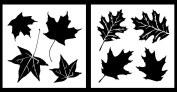 Auto Vynamics - STENCIL-CAMO-LEAF01-20 - Detailed Maple & Oak Leaves Camouflage Stencil Set - Perfect For DIY / Do-It-Yourself Camo Projects! - 50cm by 50cm Sheets - (2) Piece Kit - Pair of Sheets