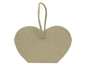 Paper Mache Basket Heart Paper Twine Handle by Craft Pedlars