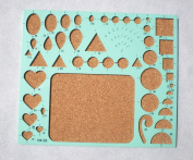 1 Piece DIY Quilling Board Template, 18cm x 20cm , Cork Board Surface For Scrapbooking, Card Making, Paper Flower Making, Arts And Craft Projects, Ideal Tool For Beginner, Intermediate, and Advanced Quillers, Mint Colour, BRAND NEW