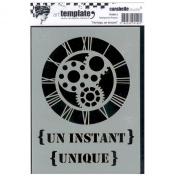 """Carabelle Studio Art Stencil 11x15cm """"Horloge, un instant"""""""