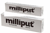 Pack of 2 - Milliput Extra Fine 2-part Self Hardening Putty, White