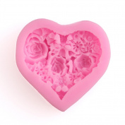Delidge Gum Paste Moulds Rose Floral Heart Fondant Cupcake Decorating Moulds Pink