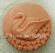 Creativemoldstore 1pcs New Style Swan & Rose (zx405) Craft Art Silicone Soap Mould Craft Moulds DIY Handmade Soap Mould