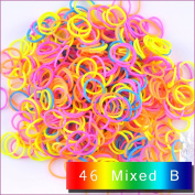 1800 PCS 72 Clips Bands Refills for Loom Rainbow Bracelet Dress Making