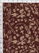 "Free Spirit Nel Whatmore ""Sleeping Beauty"" Meadow Brown Fabric"