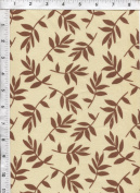 "Free Spirit Nel Whatmore ""Sleeping Beauty"" Tossed Leaf Brown Fabric"