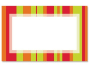 50 pack Bright Stripes BorderNo Sentiment Enclosure Cards