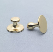 Collor Buttons #2 Long Shank Brass - Christian Brands Church Supply