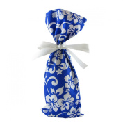 Tropical Blue Wine Bottle Bag or Small Gift Bag 17cm by 38cm