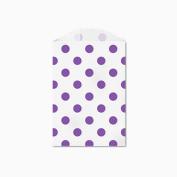 25 Purple Polka Dot Little Bitty Bags 7cm X 10cm