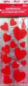 25 Clear Red Heart Flat Cellophane Loot Treat Bag Cello Vallentine's Day 29cm X 13cm