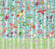 Wood Owls Reversible Rolled Gift Wrapping Paper