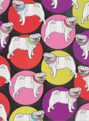 Pug Rolled Gift Wrap Paper