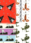 10 Assorted ERTE Designer Gift Wrap Wrapping Paper Sheets - Get 1 Sheet FREE {jg}