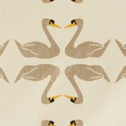 Cream Gift Wrap - Swans