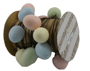KD Vintage Glitter Eggs Wire Ribbon