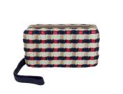 Tory Burch Daisy Multi Straw Clutch Wristlet, Tory Navy / Red