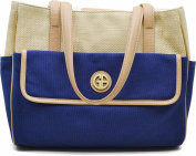 Giani Bernini Handbag, Straw Mother's Day Tote Blue