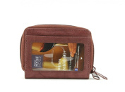Bacci Top Grain Cowhide Double Zip Around Wallet