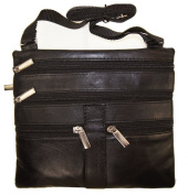 Women's Cross Body Bag 20cm X 18cm Black By Ag Wallets