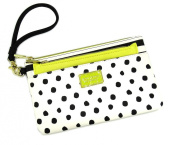 Betsey Johnson Top Zip Insert Wristlet Pouch to Go Polka Dot